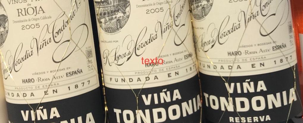 bodegas lopez heredia vino viña tondonia