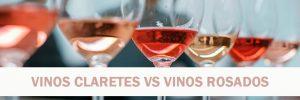 diferencia vinos rosados y claretes