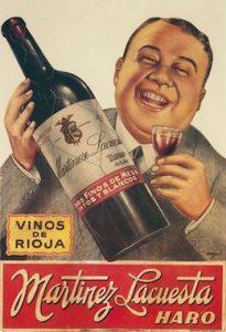 Ilustracion antigua de vinos de rioja